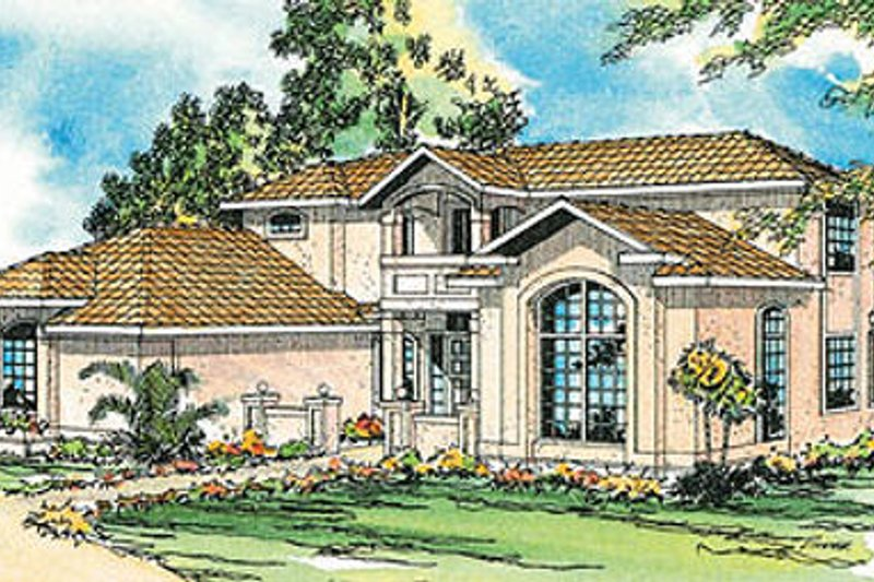 Exterior - Front Elevation Plan #124-254