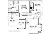 Craftsman Style House Plan - 5 Beds 4.5 Baths 3218 Sq/Ft Plan #929-1079 Floor Plan - Upper Floor Plan