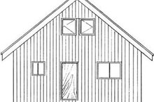 Cottage Exterior - Rear Elevation Plan #126-140