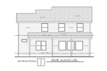 Home Plan - Traditional Exterior - Rear Elevation Plan #20-2397