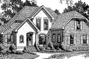 House Design - European Exterior - Front Elevation Plan #41-159