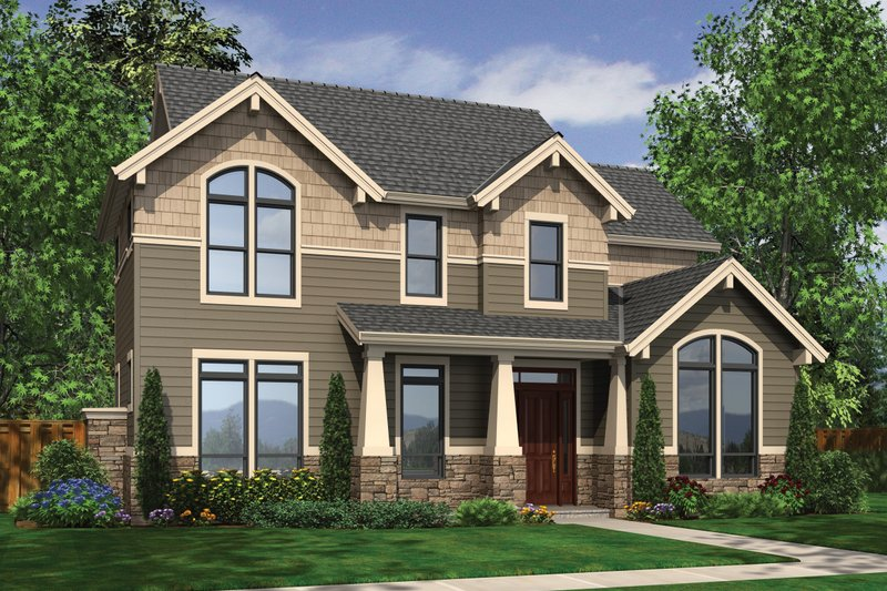 Craftsman Exterior - Front Elevation Plan #48-577