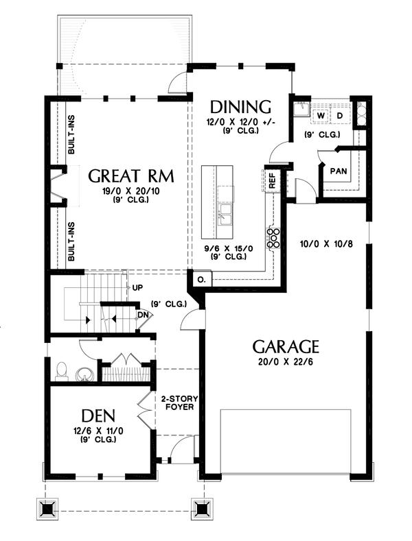 Dream House Plan - Cottage Floor Plan - Main Floor Plan #48-997