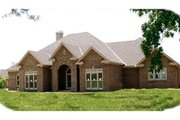 Traditional Style House Plan - 3 Beds 2.5 Baths 3267 Sq/Ft Plan #63-112 Exterior - Front Elevation
