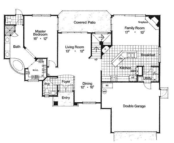 European Floor Plan - Main Floor Plan Plan #417-173