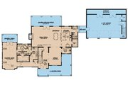 Farmhouse Style House Plan - 4 Beds 3.5 Baths 3310 Sq/Ft Plan #923-117 Floor Plan - Main Floor Plan