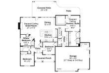Craftsman Floor Plan - Main Floor Plan Plan #124-886