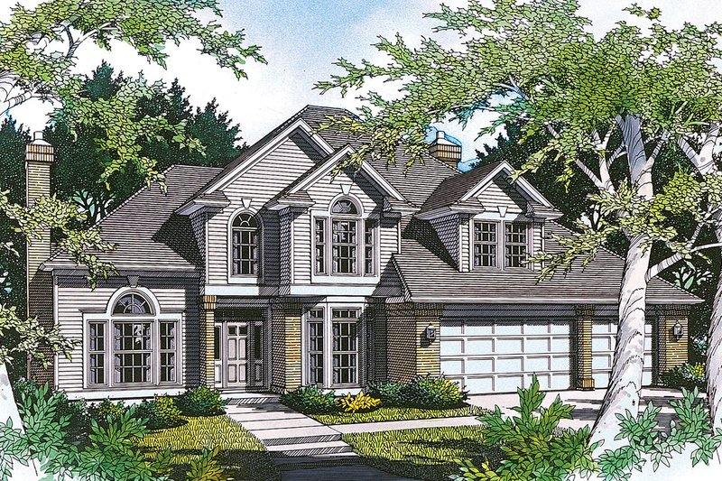 Traditional Exterior - Front Elevation Plan #48-227