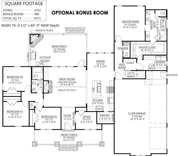 Dream House Plan - Optional Bonus