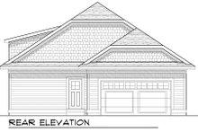 Dream House Plan - Bungalow Exterior - Rear Elevation Plan #70-967