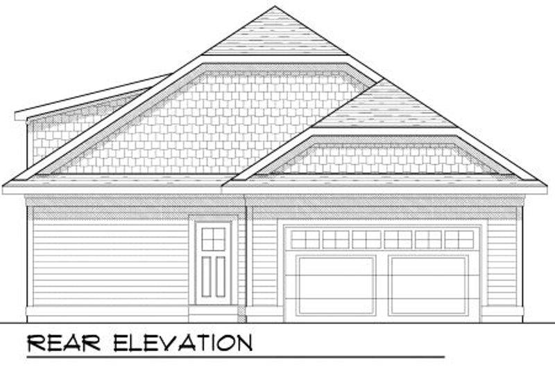 Bungalow Exterior - Rear Elevation Plan #70-967 - Houseplans.com