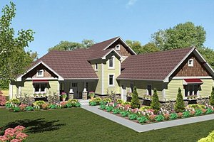 Craftsman Exterior - Front Elevation Plan #439-1
