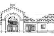 Mediterranean Style House Plan - 4 Beds 2.5 Baths 2319 Sq/Ft Plan #72-143 Exterior - Rear Elevation