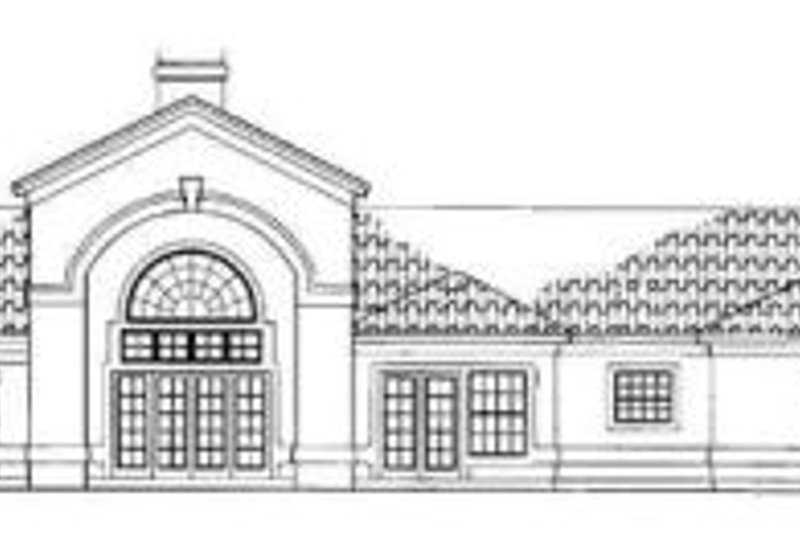 Mediterranean Exterior - Rear Elevation Plan #72-143 - Houseplans.com