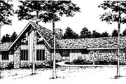 Contemporary Style House Plan - 3 Beds 2 Baths 2440 Sq/Ft Plan #10-250 Exterior - Front Elevation