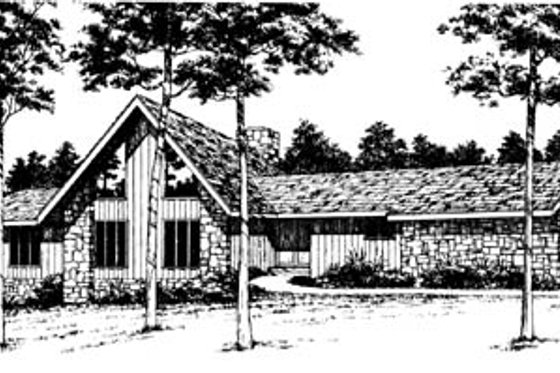 Contemporary Exterior - Front Elevation Plan #10-250