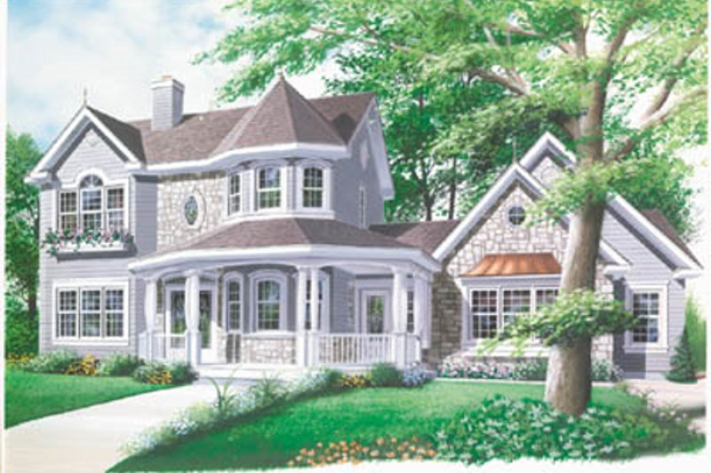 Victorian Exterior - Front Elevation Plan #23-2017