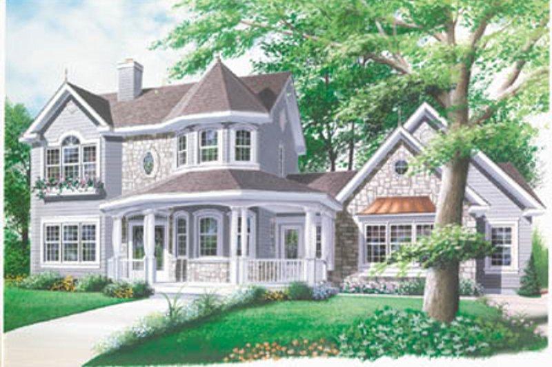 Architectural House Design - Victorian Exterior - Front Elevation Plan #23-2017