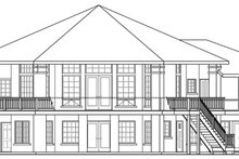 Home Plan - Contemporary Exterior - Rear Elevation Plan #124-850