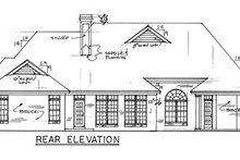 Home Plan - Traditional Exterior - Rear Elevation Plan #34-137