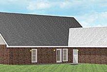 Home Plan Design - Southern Exterior - Rear Elevation Plan #44-107