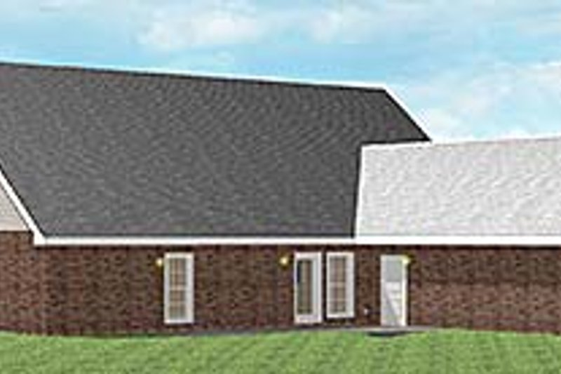 Southern Exterior - Rear Elevation Plan #44-107 - Houseplans.com