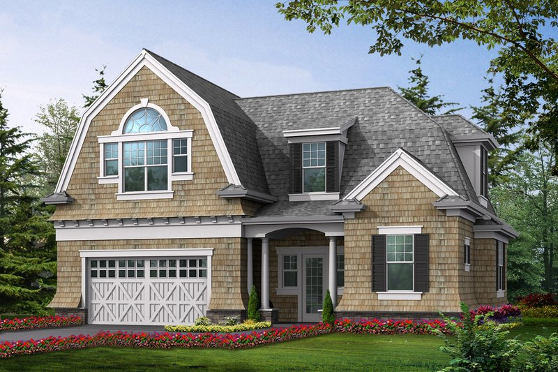 Traditional Style House Plan - 1 Beds 1 Baths 1285 Sq/Ft Plan #132-191 Exterior - Front Elevation
