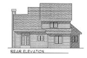 Country Style House Plan - 3 Beds 2.5 Baths 1556 Sq/Ft Plan #70-267 Exterior - Rear Elevation