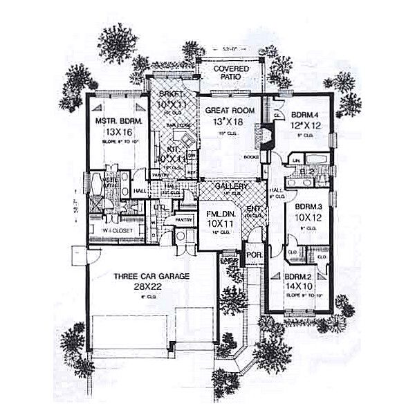Traditional Floor Plan - Main Floor Plan #310-914