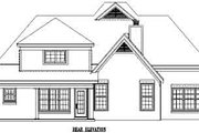 Traditional Style House Plan - 3 Beds 2.5 Baths 2306 Sq/Ft Plan #81-233 Exterior - Rear Elevation