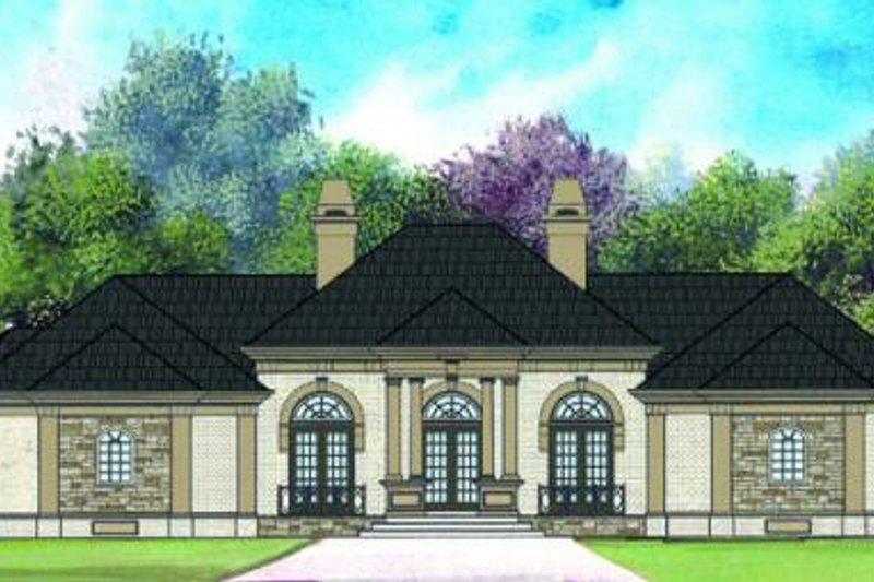 Dream House Plan - European Exterior - Front Elevation Plan #119-322