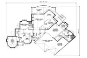 European Style House Plan - 5 Beds 5 Baths 3052 Sq/Ft Plan #5-333 Floor Plan - Main Floor