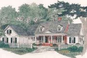 Traditional Style House Plan - 3 Beds 2.5 Baths 2672 Sq/Ft Plan #129-124 Exterior - Front Elevation