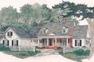 Traditional Exterior - Front Elevation Plan #129-124