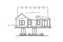 Cottage Exterior - Rear Elevation Plan #20-2387