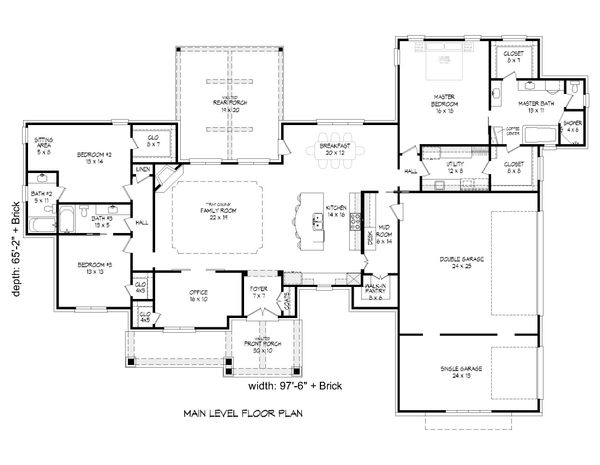 Dream House Plan - Country Floor Plan - Main Floor Plan #932-65