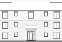 Architectural House Design - Traditional Exterior - Rear Elevation Plan #23-777