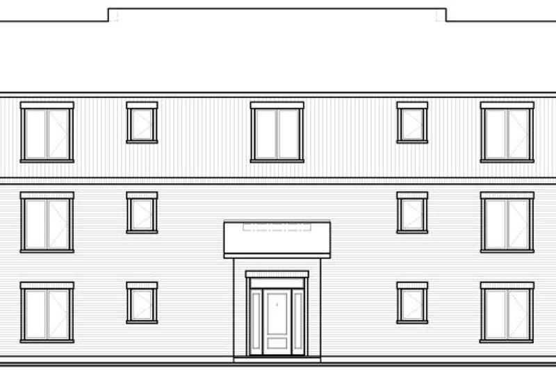 Traditional Exterior - Rear Elevation Plan #23-777 - Houseplans.com