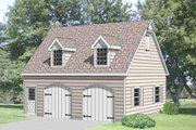 Country Style House Plan - 1 Beds 1 Baths 450 Sq/Ft Plan #116-228 Exterior - Front Elevation