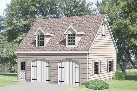 Country Exterior - Front Elevation Plan #116-228