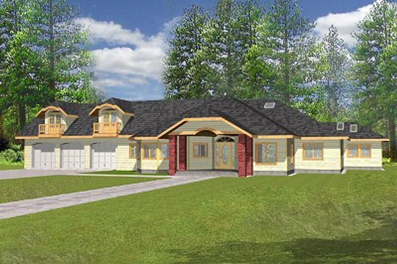 Traditional Exterior - Front Elevation Plan #117-155 - Houseplans.com