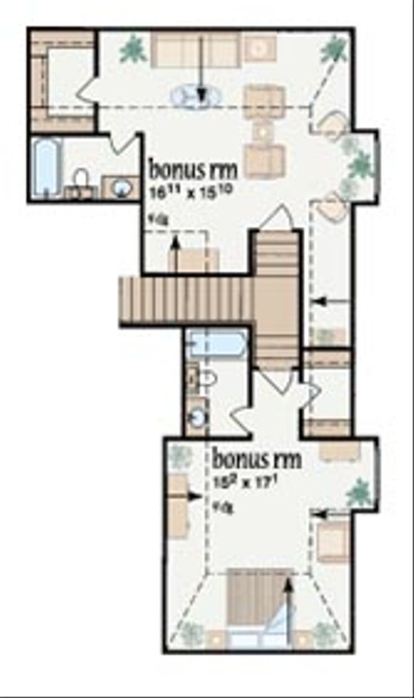 Southern Floor Plan - Other Floor Plan Plan #36-243