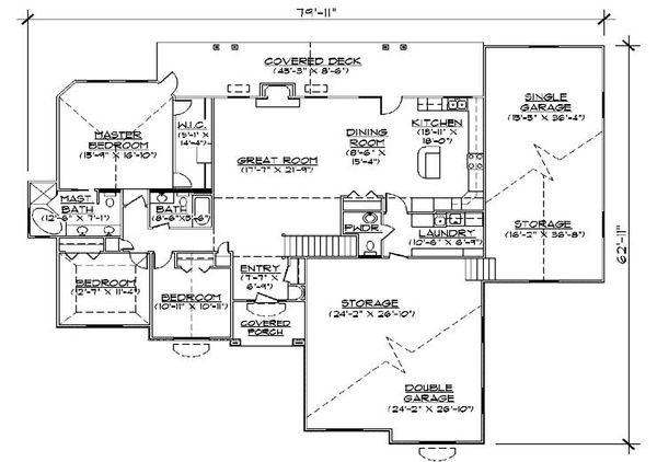 House Plan Design - Traditional Floor Plan - Main Floor Plan #5-342