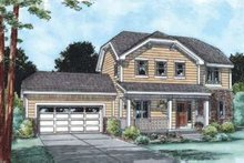 Traditional Exterior - Front Elevation Plan #20-1777