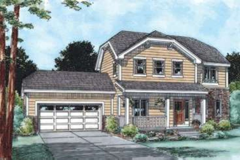 Traditional Exterior - Front Elevation Plan #20-1777 - Houseplans.com