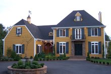 Home Plan - European Exterior - Front Elevation Plan #137-117