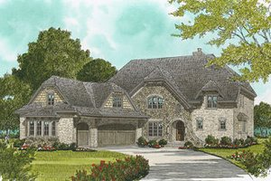 European Exterior - Front Elevation Plan #413-110