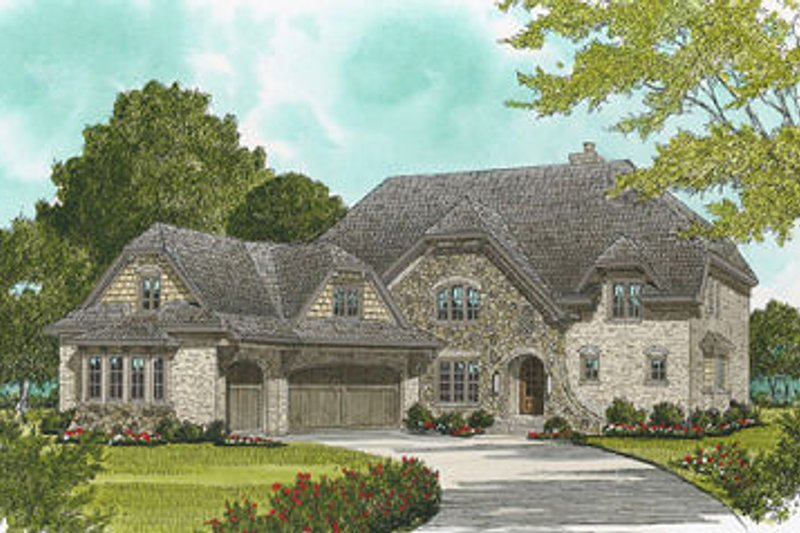 Dream House Plan - European Exterior - Front Elevation Plan #413-110