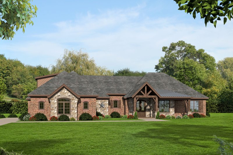 Home Plan - Country Exterior - Front Elevation Plan #932-93