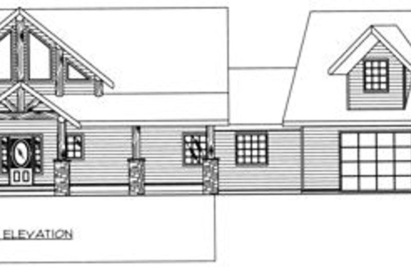Traditional Exterior - Rear Elevation Plan #117-579 - Houseplans.com